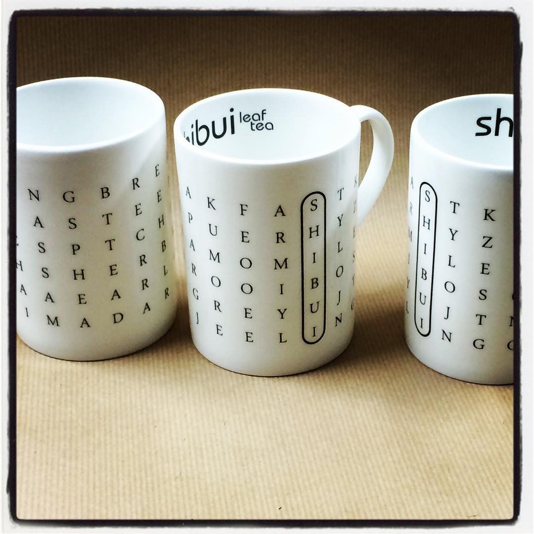 Shibui Word Search China Mug
