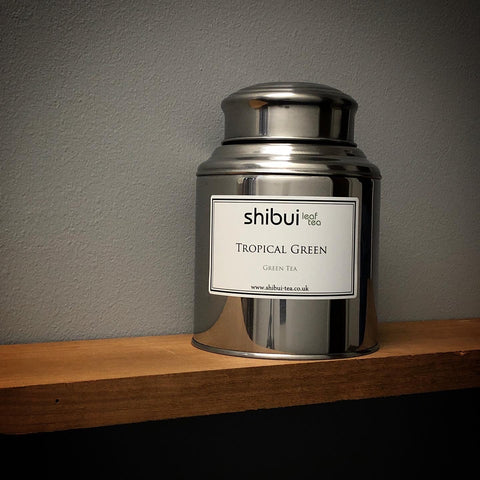Tropical Green Tea Stainless Steel Caddy