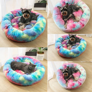 Tie Dye Plush Pet Lounger