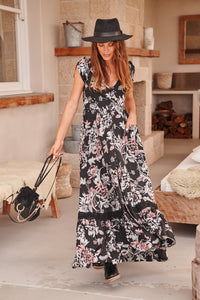 Jaase Night Rose Maxi Dress - Anchor & Willow