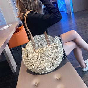 boho round shoulder bag