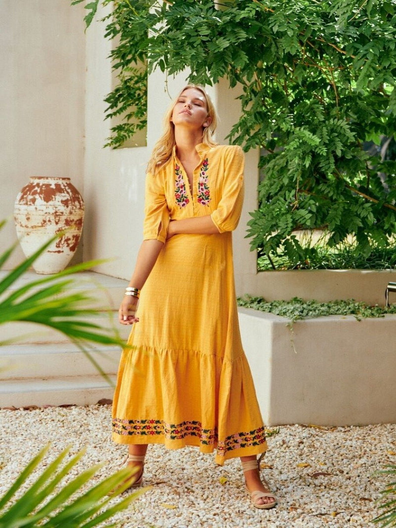 autumn boho dress mango