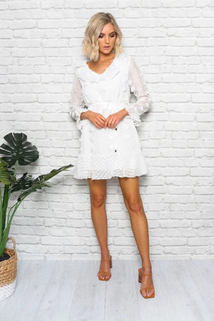 canberra white dress mini