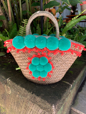 Handmade Pom Pom Shoulder Bag - Anchor & Willow