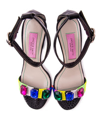 embroidered sandal