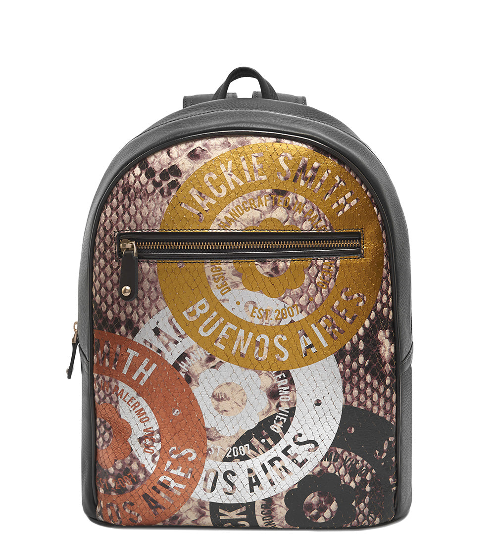 Metallic Printed Backpack