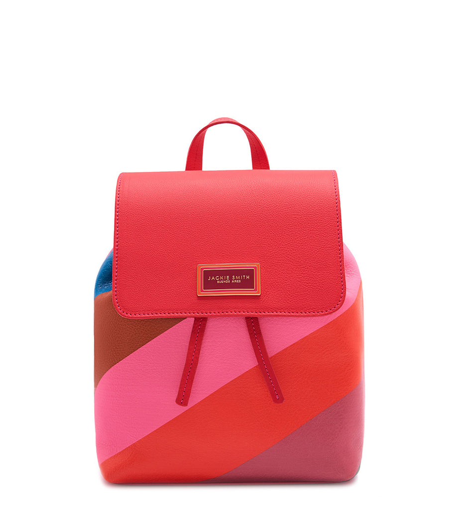 Colorblock striped backpack