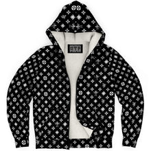 Load image into Gallery viewer, DTP Futon Pattern Zip-Up Hoodie