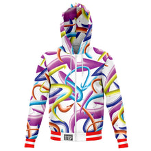 Load image into Gallery viewer, Paint Strokes Zip-Up Hoodie