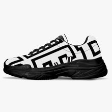 Load image into Gallery viewer, Chunky Signature Sneakers - White/Black