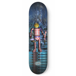 """Land Of Eggs & Money"" Skateboard"