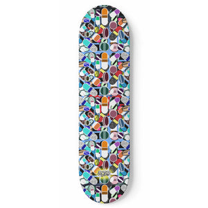 """Colored Pills"" Skateboard"