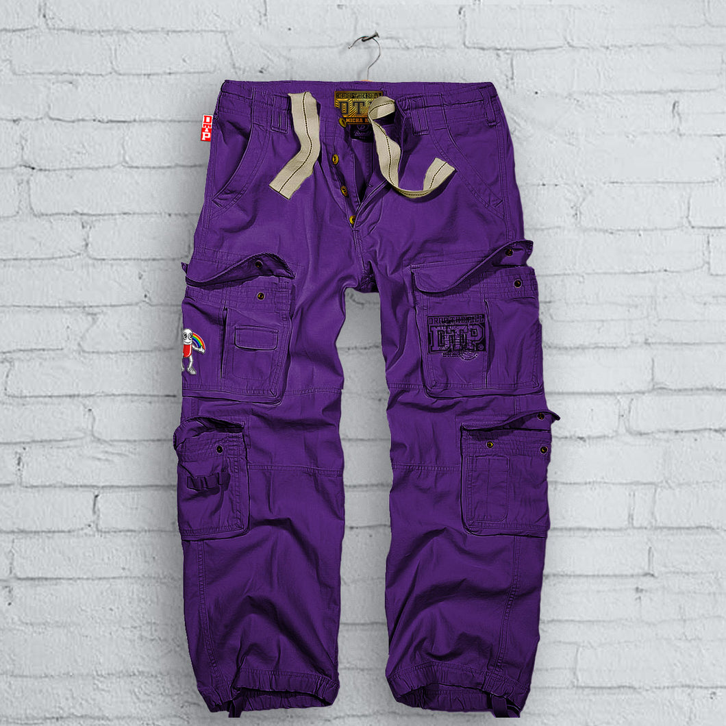 Purple DTP Cargo Pants