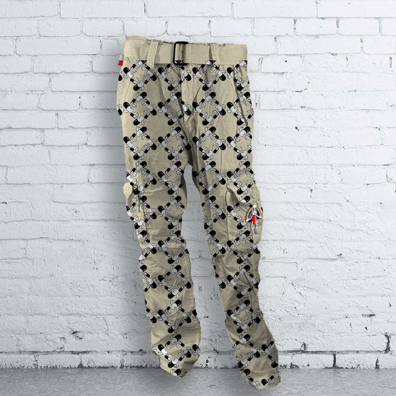 Checkered Faded Pills Pants