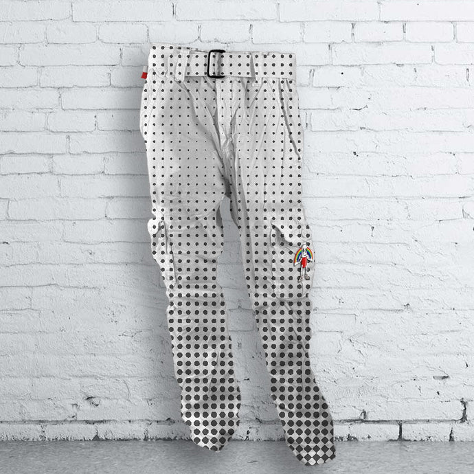 Black & White Halftone Dotted Pants
