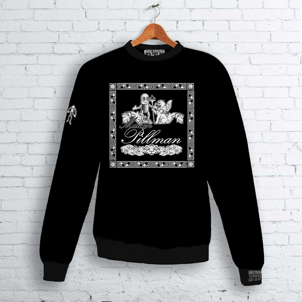 Black Maison Pillman Logo Crew Neck