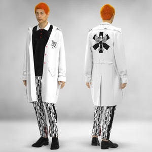 White Leather DTP Trench Coat