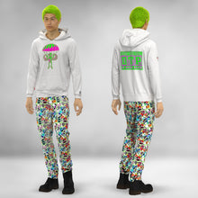 Load image into Gallery viewer, WHITE NEON PARA-TROOPER PILLMAN  HOODIE