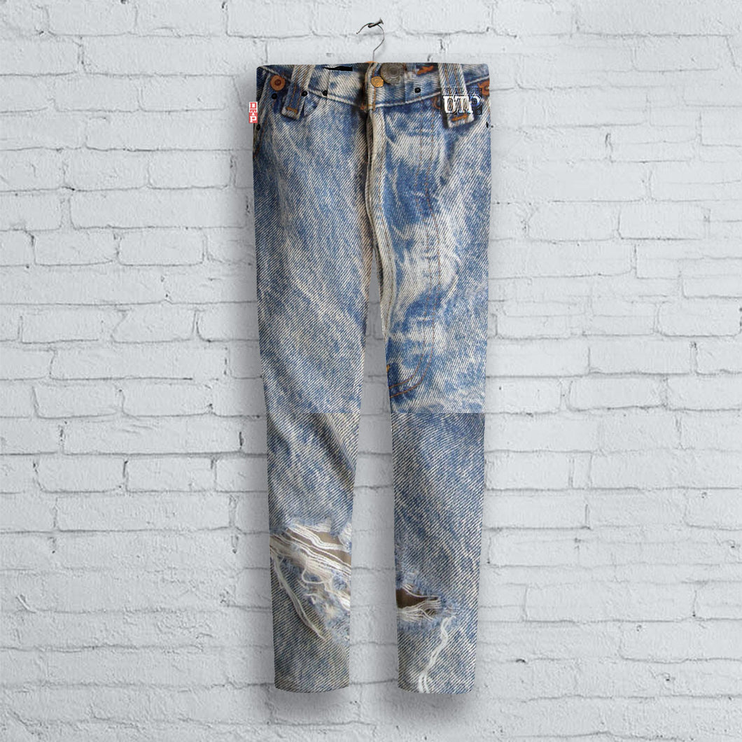 Fake Jeans Printed  Jeans