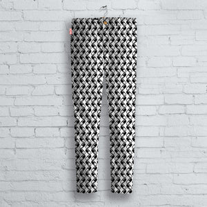 Black & White Pill Pattern Jeans