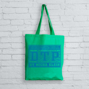 Blue & Green Box Logo Canvas Tote Bag