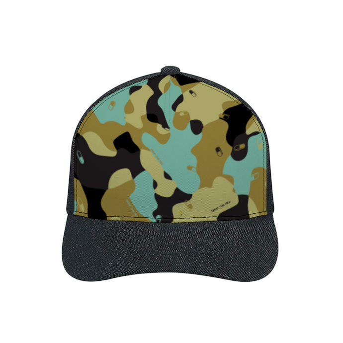 Camo Black Denim  Baseball Hat