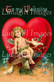 Vintage Cherubs Valentines Images Download Pack