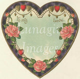 Vintage Valentines Hearts Download Pack