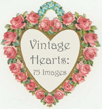 Vintage Valentines Hearts Download Pack - Lunagirl