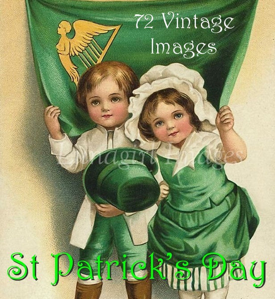 Vintage St Patrick's Day Images Download Pack - Lunagirl