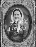 vintage image daguerreotype photograph of a woman