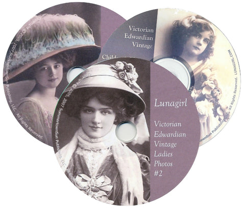 Victorian Edwardian Vintage Photos 3-CD Set - Lunagirl