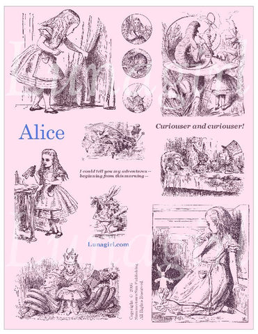Alice Digital Collage Sheet (Pink) - Lunagirl