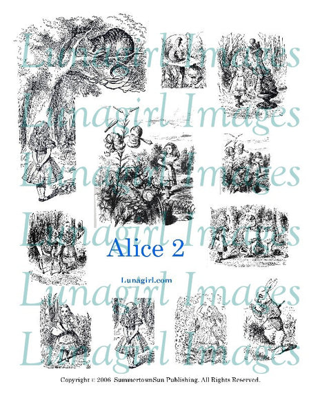 Alice 2 Digital Collage Sheet - Lunagirl