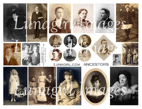 Ancestors Digital Collage Sheet - Lunagirl