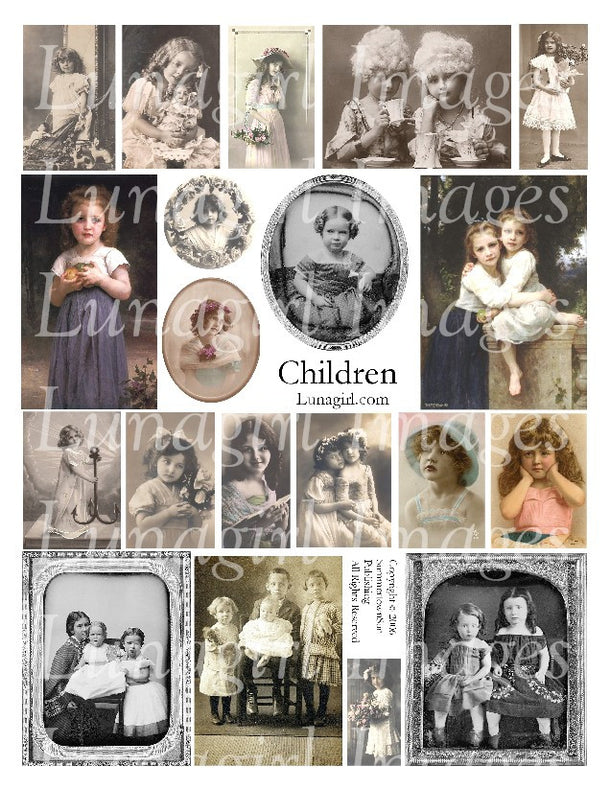 Digital Collage Sheets: Children & Babies