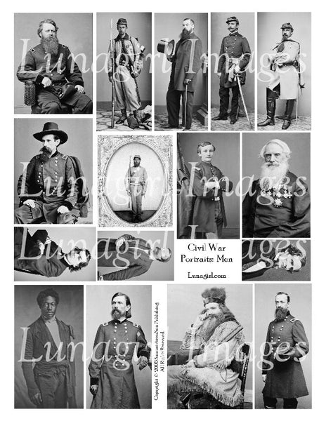 Civil War Men Digital Collage Sheet - Lunagirl