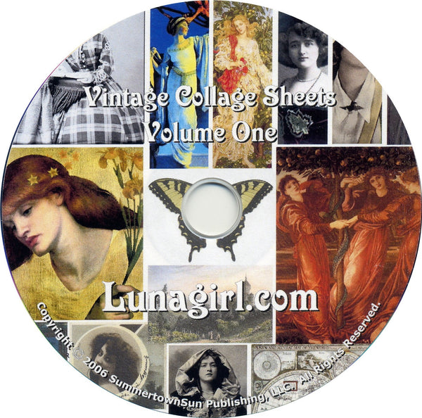 Digital Collage Sheets on CD Volume #1 - Lunagirl