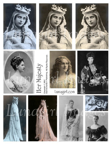 Her Majesty Digital Collage Sheet - Lunagirl