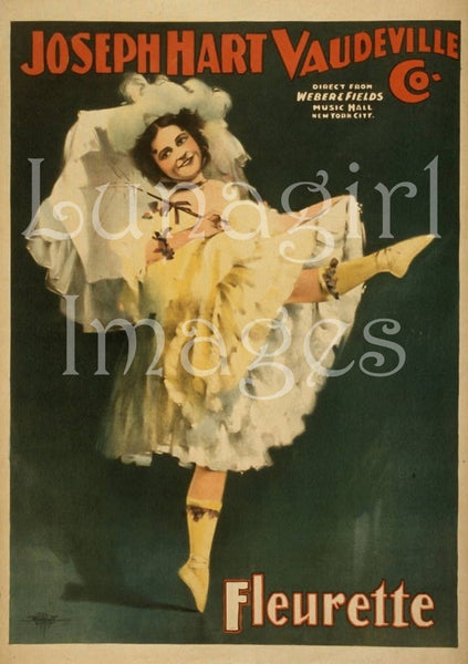 Vintage Images Of Burlesque Art Victorian Theater Posters
