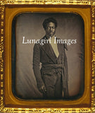vintage image african-american freed man photograph antique framed color daguerreotype