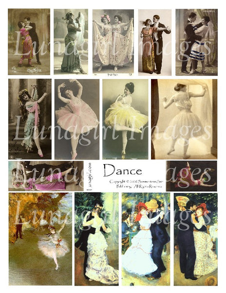 Dance Digital Collage Sheet - Lunagirl