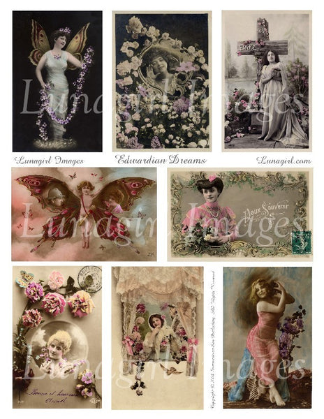 Edwardian Dreams Digital Collage Sheet - Lunagirl