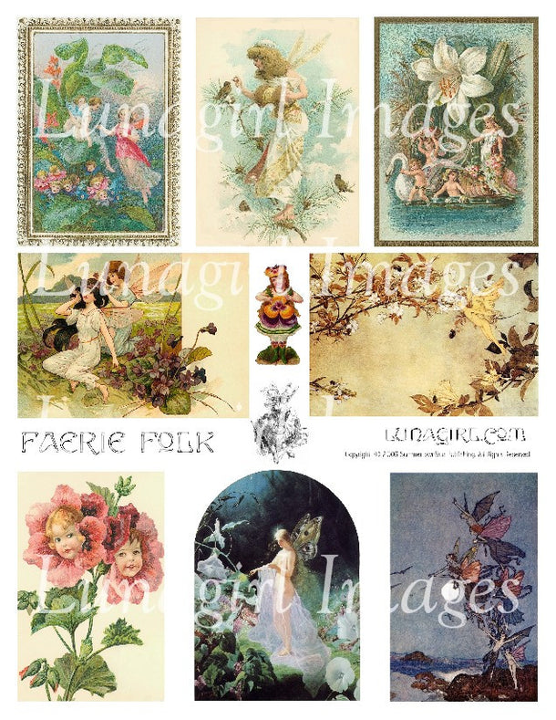 Digital Collage Sheets: Fairies & Angels