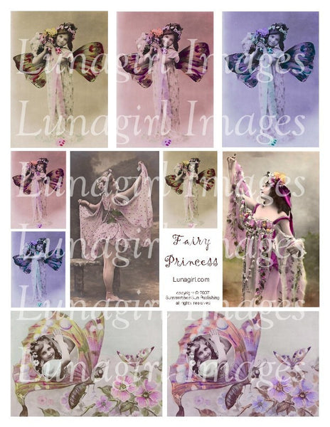 Fairy Princess Digital Collage Sheet - Lunagirl
