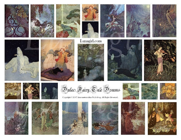 Fairy Tale Dreams Digital Collage Sheet - Lunagirl