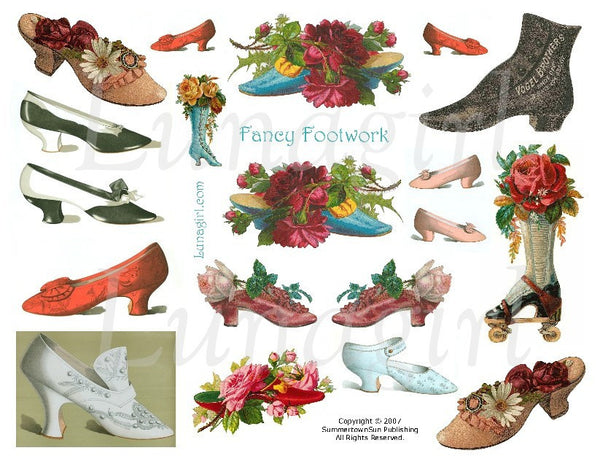 Fancy Footwork Digital Collage Sheet - Lunagirl