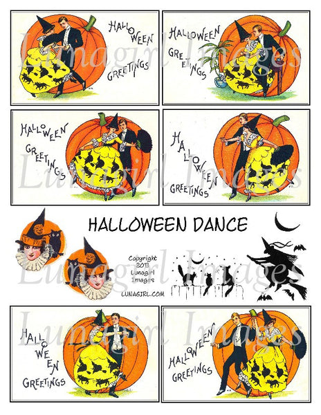 Halloween Dance Digital Collage Sheet - Lunagirl