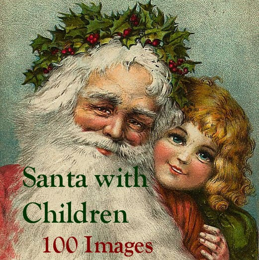 100 Santa with Children Images Download Pack - Lunagirl