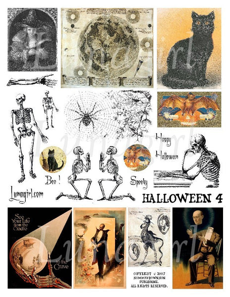 Halloween #4 Digital Collage Sheet - Lunagirl